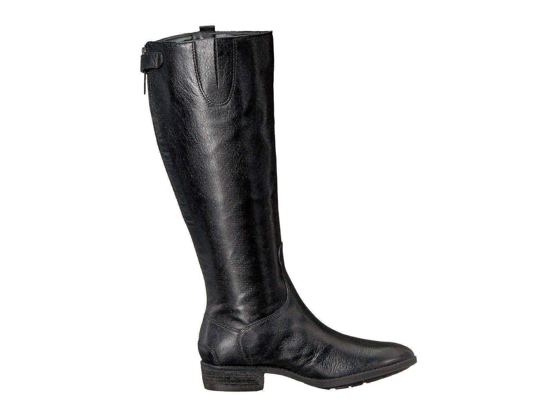 Black Penny Wide Riding Sam Leather Edelman Calf 2 Boot T8xqx7B