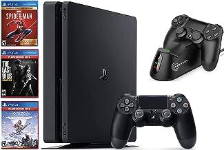 Newest Sony Playstation 4 Console 1TB Bundle: with 1 DualShock Wireless Controller, 3 Games (Spider-Man, Horizon Zero Dawn...