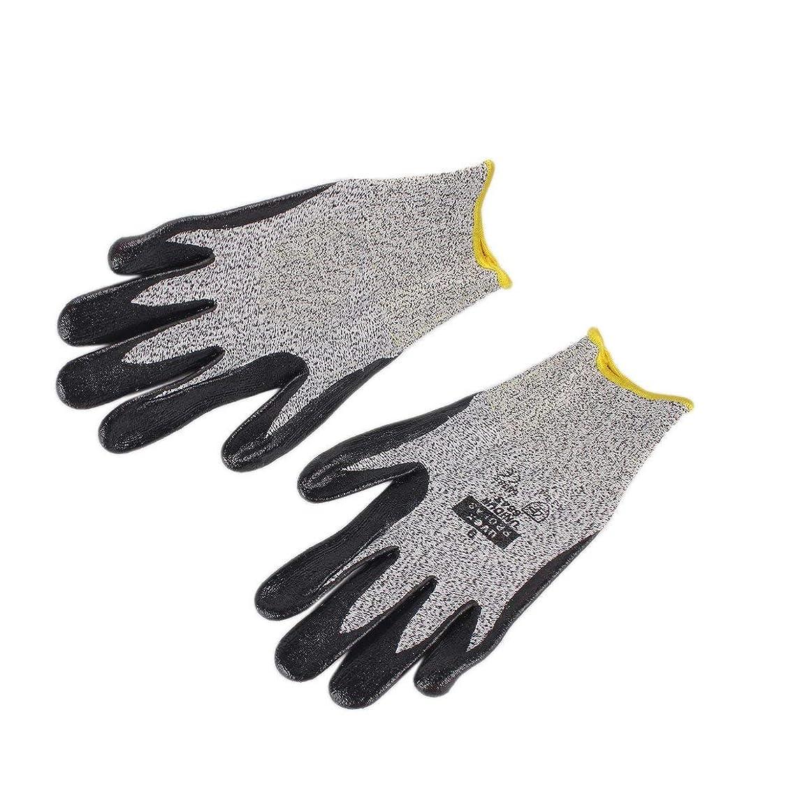 高尚な鳴らすつぶすBlackfell 1ペア抗摩耗カット耐性安全労働保護手袋電気溶接はんだ付け金属工業用戦術手袋