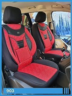 Chemu Autositzbezug schwarz Universal Leder Auto Zubeh/ör 2 St/ück f/ür ceed Optima sportage,Civic hrv CRV