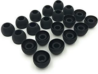 Earbudz 10 Pairs Medium Silicone Replacement Earbud Ear Buds Tips - Black