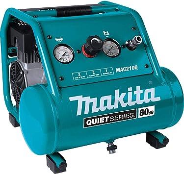 Makita MAC210Q Quiet Series, 1 HP, 2 Gallon, Oil-Free, Electric Air Compressor: image