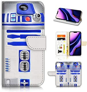 for iPhone 11 Pro Max, Designed Flip Wallet Phone Case Cover, A0716 Starwars R2D2