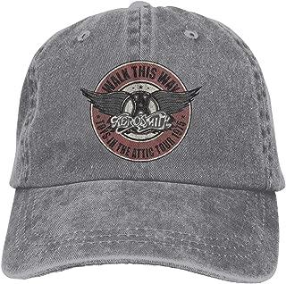Men's Vintage Adjustable Cap Customized Aerosmith Walk This Way 1975 Cool Baseball Hat, Blue