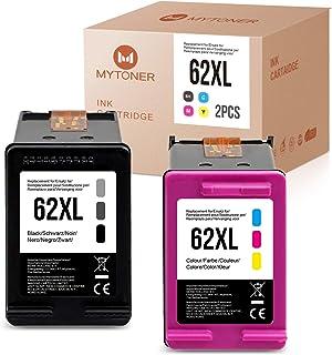 2 MYTONER Compatible para Cartuchos HP 62 XL 62XL Reacondicionados para HP Envy 5540 5545 5548 5640 7640 Impresoras HP OfficeJet 250 200 5740 5742 (Negro/Color)