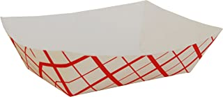 Southern Champion Tray 0425 #300 Southland Paperboard Food Tray, 3 lb Capacity, Red Check (Case of 500)