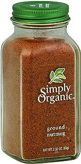 Simply Organic Ground Nutmeg - 2.3 oz - 95%+ Organic - Yeast Free - Vegan - Kosher