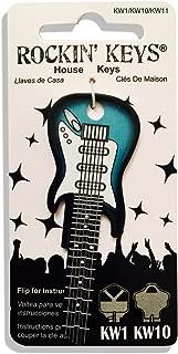 Surf Green Electric Guitar Shaped Rockin' Key Kwikset KW1 KW10