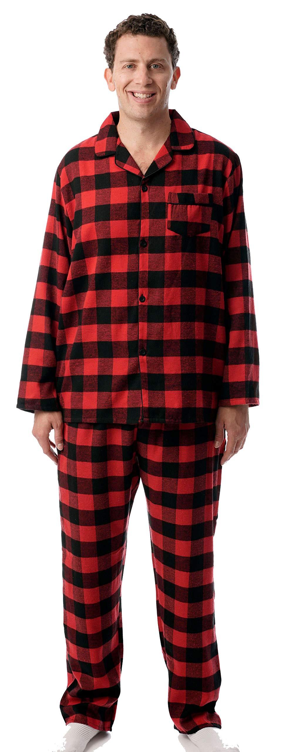 followme Mens Flannel Pajama 44917 1A L