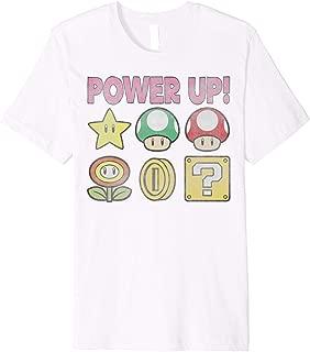 Nintendo Super Mario Power-Up Icons Vintage Premium T-Shirt