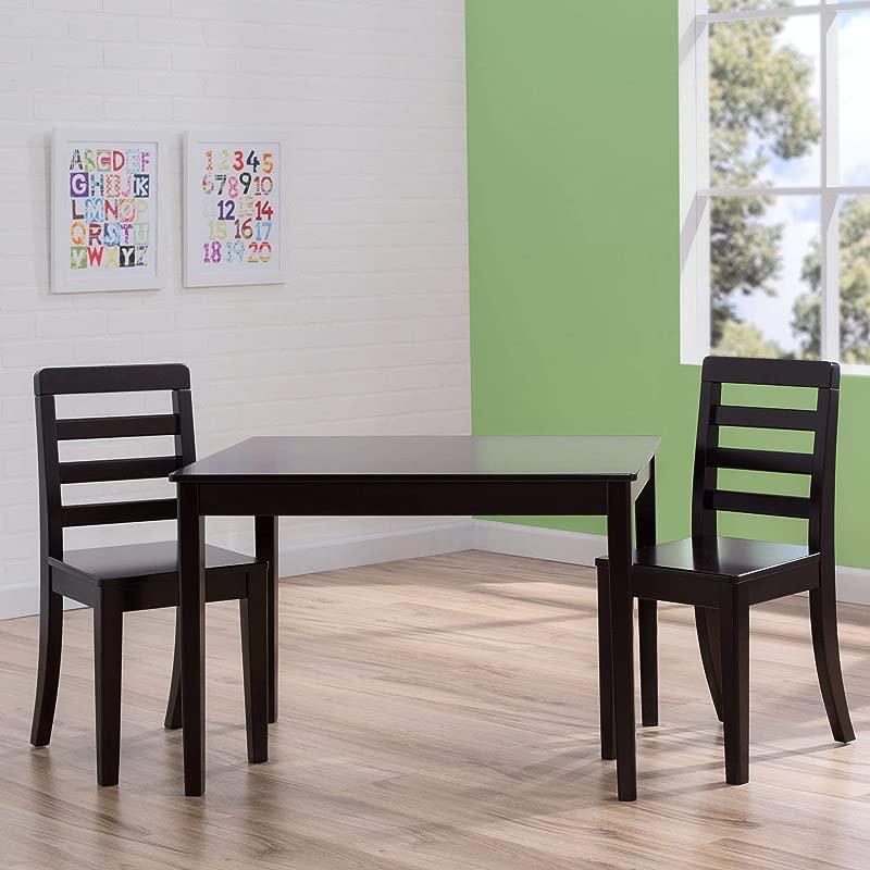 Delta Children Table And Chairs 3 Piece Set In Dark Chocolate Brown