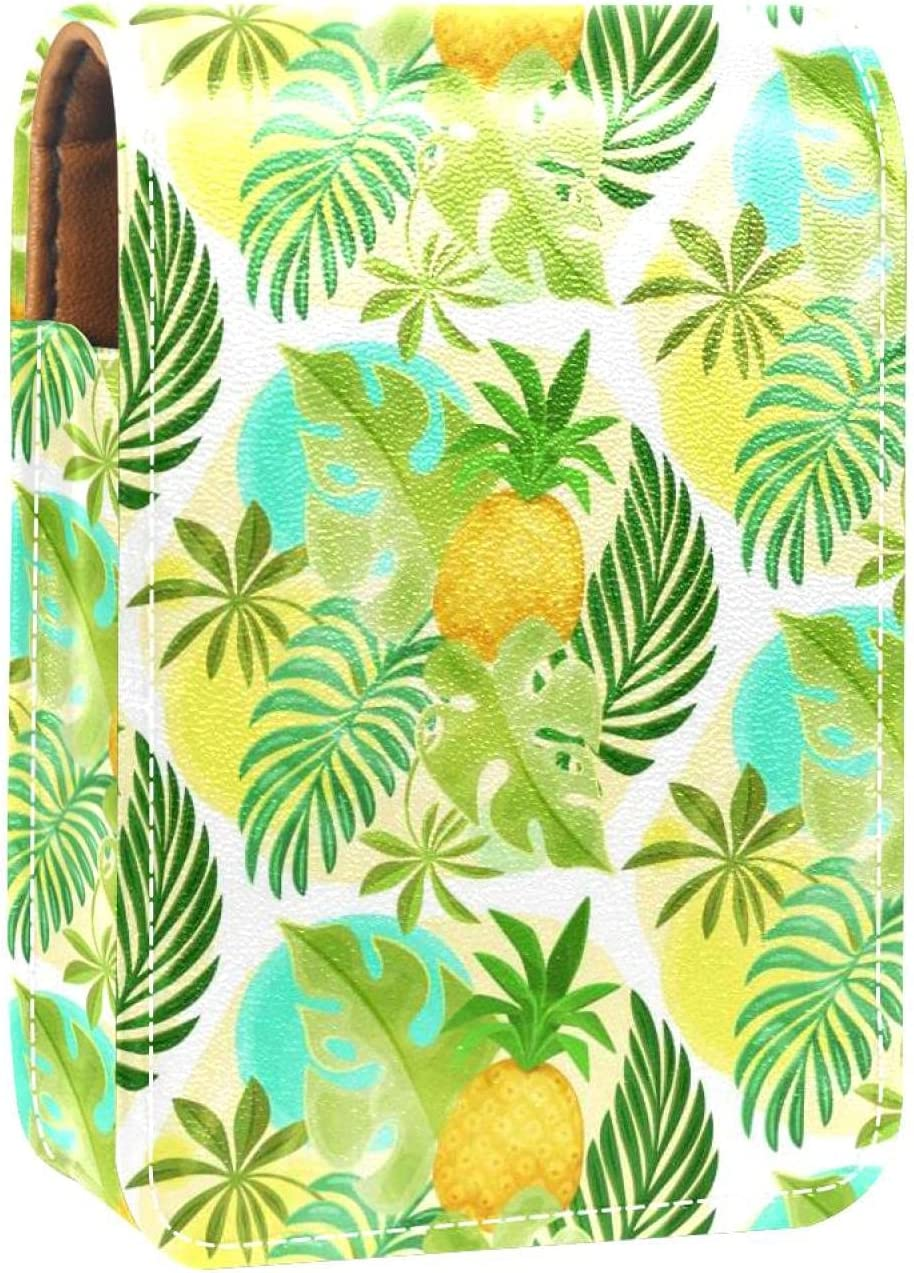 Lipstick Case With Mirror Pineapple Tropical Shipping included Lip Glo Leaves Palm Max 67% OFF