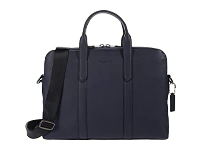 COACH Metropolitan Soft Briefcase (QB/Deep Blue) Briefcase Bags