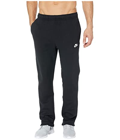 Nike NSW Club Pants Open Hem (Black/Black/White) Men
