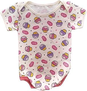 Body de bebê algodão estampado meninas