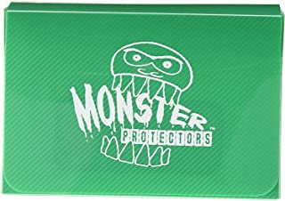 Monster Protectors Trading Card Double Deck Box with Self-locking Magnetic Closure - Green (Fits Yugioh, Pokemon, Magic th...