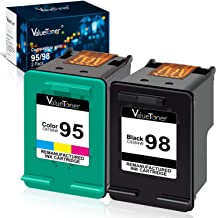 Valuetoner Remanufactured Ink Cartridge Replacement for HP 98 C9364WN & 95 C8766WN for Officejet 150 100 6310, PhotoSmart ...