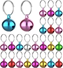 IVIA 4 Sets Cat Bell for Dog Collar Charm Training Pet Pendant Accessories with 2 Pack Stainless Steel Dog Tag Clips