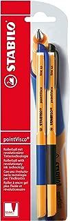 Stabilo pointVisco Rollerball Pen–Blue/Black, Set of 2