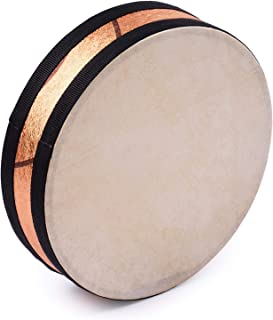8 Inch Ocean Drum Wooden Handheld Sea Wave Drum Percussion Instrument Gentle Sea Sound Musical Toy Gift for Kids