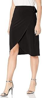 Star Vixen Women's Petite Side-tie Knee Length Fauxwrap Skirt