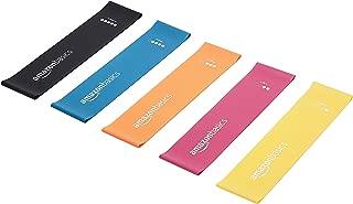 AmazonBasics Latex Resistance Band - 600mm, 5-Piece Set