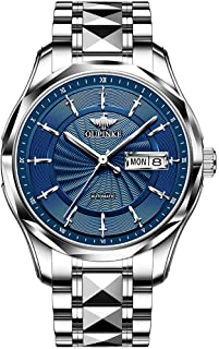Swiss Brand Automatic Self-Wind Men Watch Mechanical Twelve Knights Luxury Dress Waterproof Silver Two Tone Men Wrist Watches