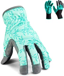 YARTTING Gardening Gloves for Women, Flexible Breathable Spandex, 2 Pairs Yard & Gardening Working Gloves Touch Screen, Best Garden Gifts & Tools for Gardener, X-Small