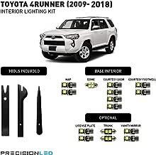PrecisionLED 15 Piece LED Interior Lighting Kit for 2009-2018 Toyota 4Runner + License Plate LED's & Install Tools (6000K)