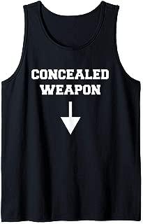 Funny Concealed Weapon Sexual Innuendo Gun Owner Adult Humor Tank Top
