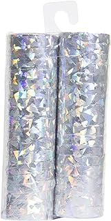 Folat 65815 – luftormar – silver holografisk – 2 rullar med 18 ormar vardera – 4 m lång