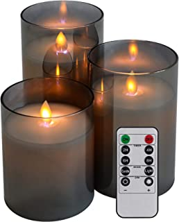 Led Flameless Candles Battery Operated, Set of 3