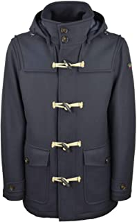 PAUL & SHARK - Uomo Cappotto Montgomery Blu in Lana I20P2512 050-31633