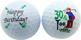 Westman Works Happy 30th Birthday Thirty & TeeRiffic Set of 2 Golf Ball Golfer Gift Pack