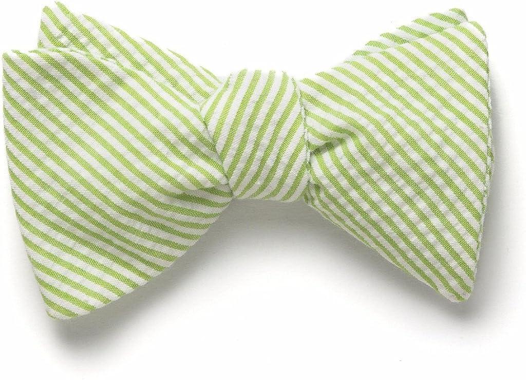 Seersucker Bow Tie- Lime Green