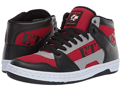etnies MC Rap High (Black/Red/Grey) Men