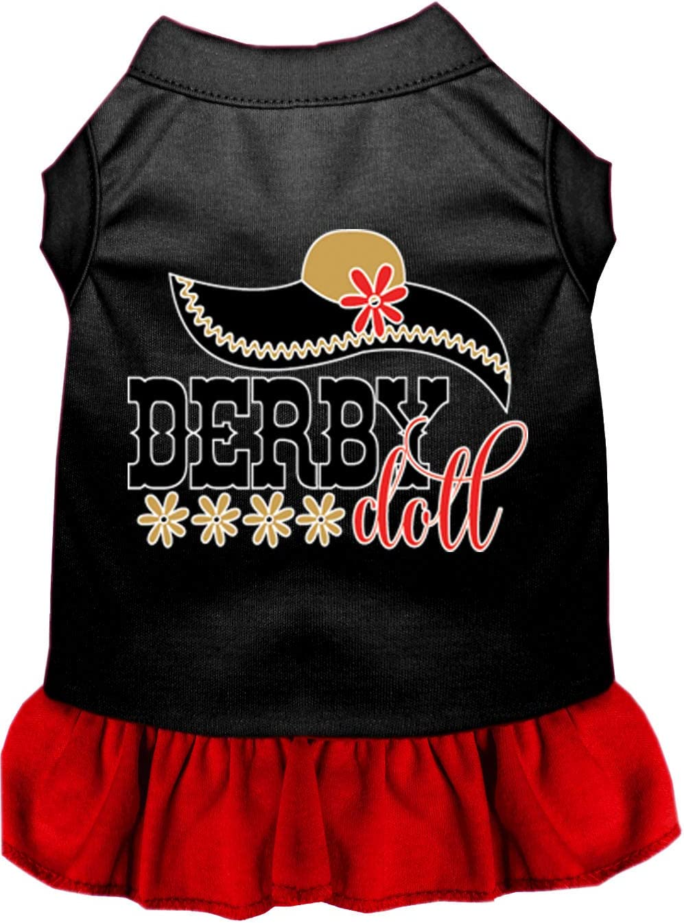 Mirage Pet Product Derby Popular popular Doll Screen Black with Challenge the lowest price Print Dress Dog