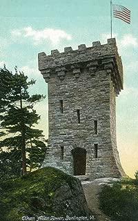Burlington, Vermont - View of the Ethan Allen Tower (16x24 Fine Art Giclee Gallery Print, Home Wall Decor Artwork Poster)