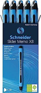 Schneider Pen, Slider MEMO XB (Extra Broad), Pack of 10, Black (150201), Red