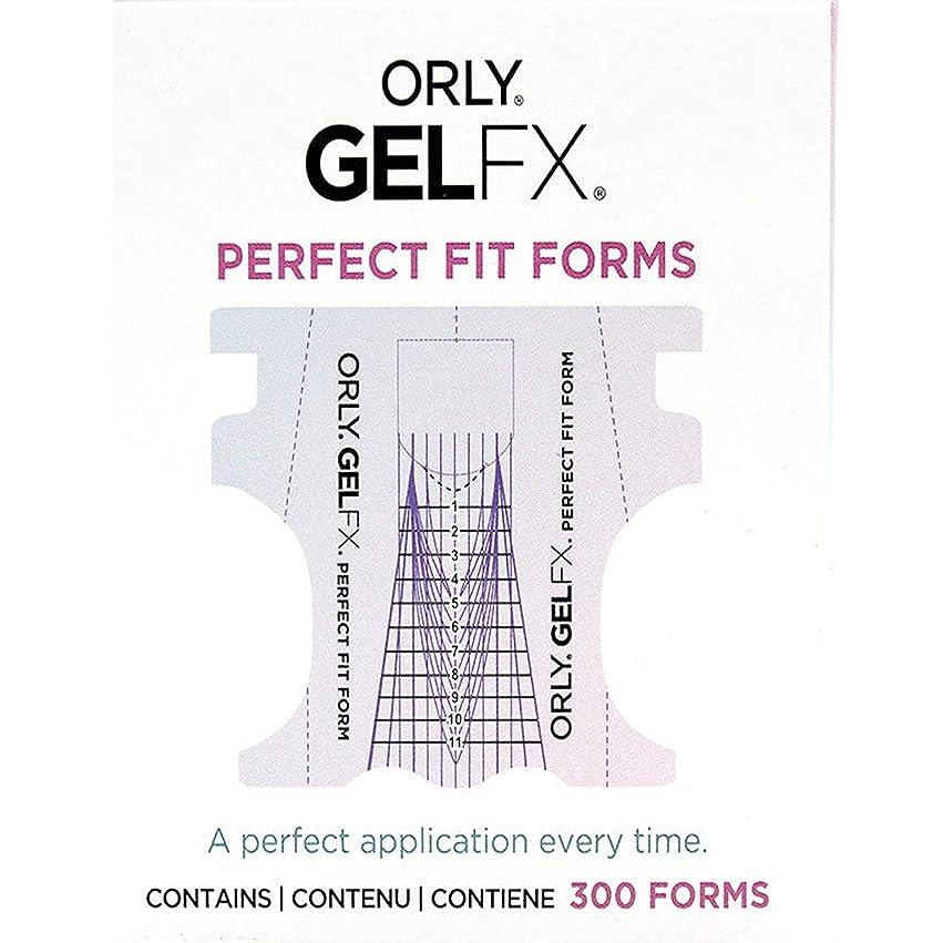 宣言する遠近法スキニーOrly Gel FX - Perfect Fit Forms - 300 count