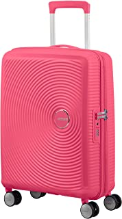 American Tourister Soundbox - Spinner Small Expandable Hand Luggage, 55 cm, 41 liters, Pink (Hot Pink)