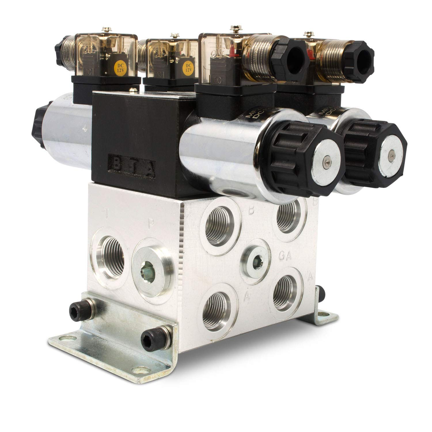Electric Hydraulic Double Acting Control Valve w//Rocker Switch 15 GPM D Spool Motor Control, 12 Volt 2 Spool