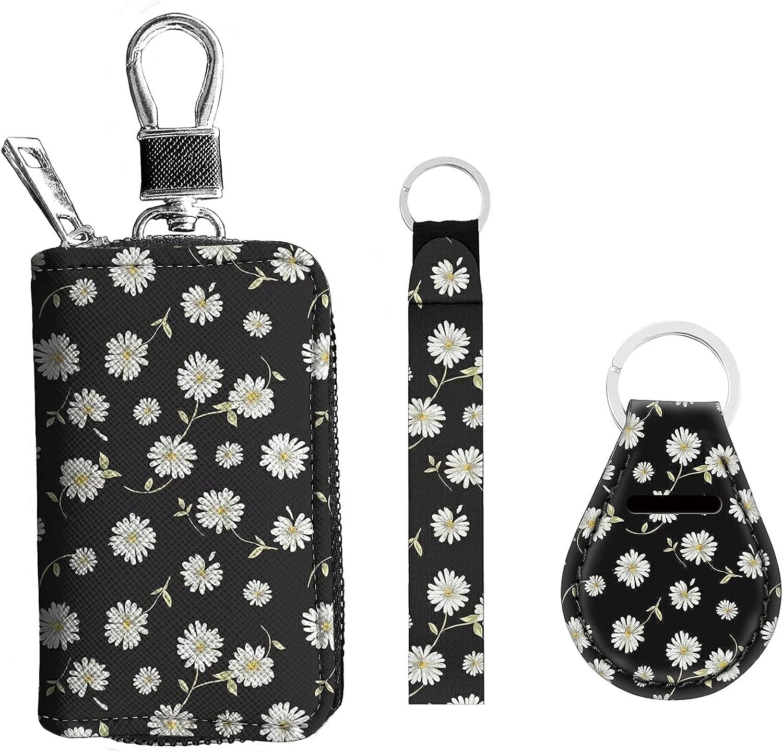 Freewander 3PCS Suit Keychains with Zipper Key Case, Lanyard Keychain, Keyring Fashion Gift