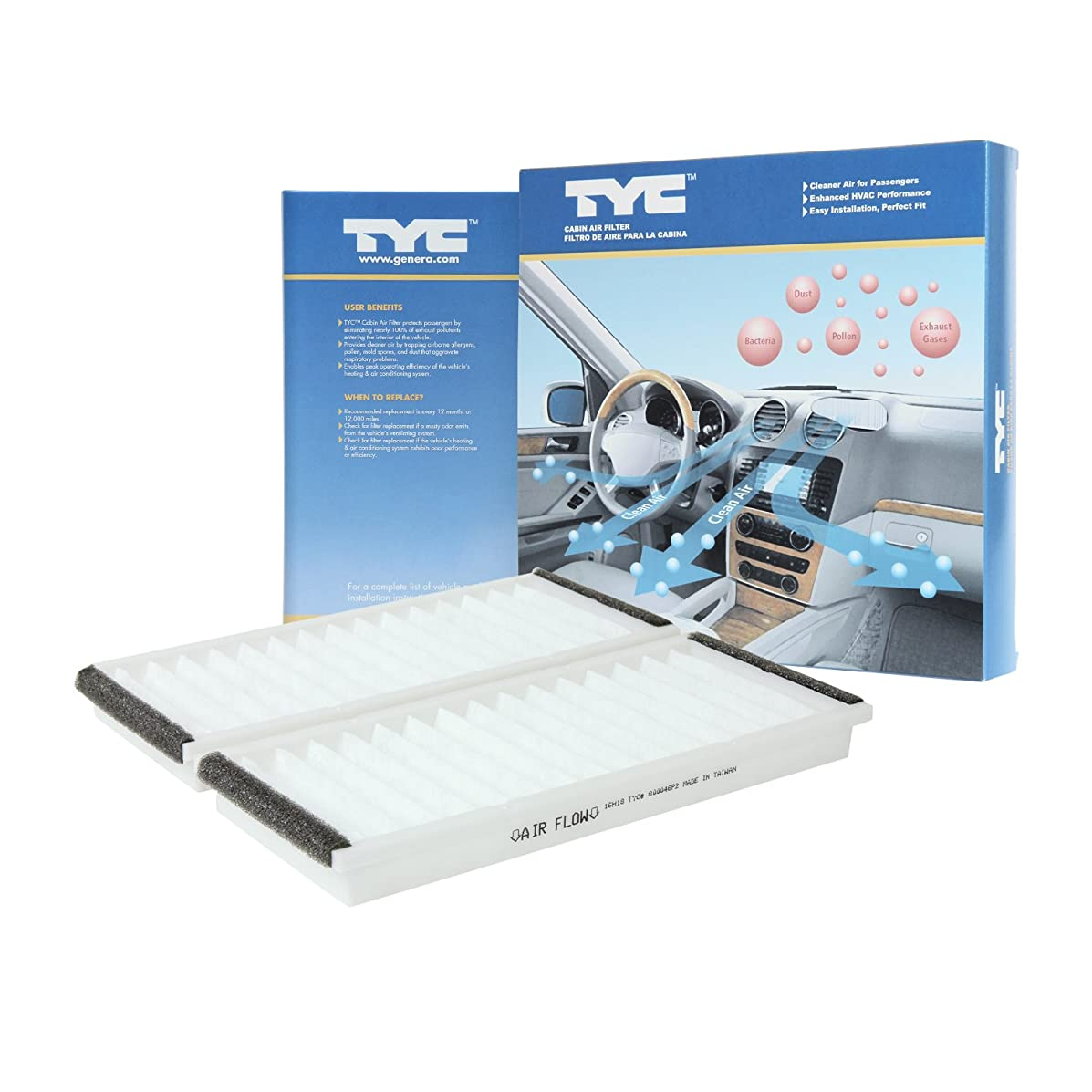 TYC 800046P2 Mazda Replacement Cabin Air Filter