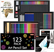 Shuttle Art 123 Pack Art Pencil Set, 36 Watercolor Pencils,36 Oil Based Pencils,12 Sketch Pencils,12 Metallic Color Pencil...