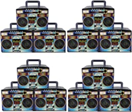 Party Drop Box Retro Boombox Party Favor Boxes 12ct