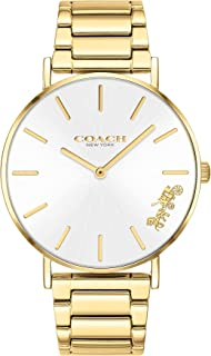 COACH PERRY WOMEN's SILVER WHITE DIAL WATCH - 14503345