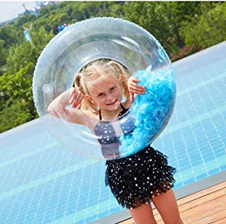 ComCreate Inflatable Swim Tube Instructor Cute Feather Pool Swim Ring Party Decoration Pool Floats Photo Props, Fun Beach ...