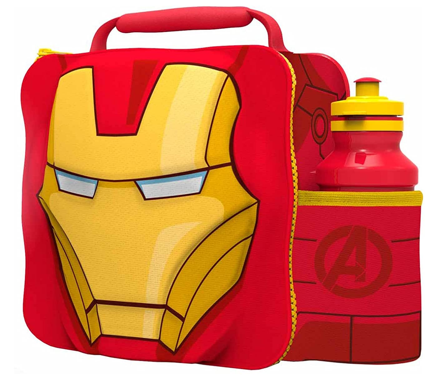 IRON MAN Kids Children 3D Lunch Box Bag With Sport Water Bottle yne1610492