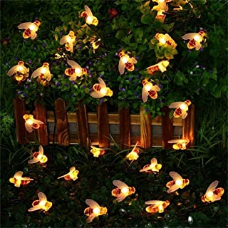 Aukora 40 LED Dimmable Honeybee String Lights with Remote & Timer Function, 8 Mode USB Powered Twinkle Fairy String Lights for Xmas Garden Patio Wedding Bedroom Indoor Outdoor Decoration, Ideal Gifts